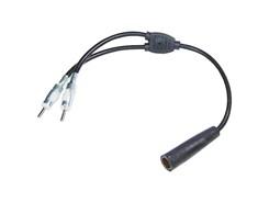 Antenne Y-fordeler DIN (Hun) > DIN (2xHan)