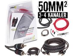 50mm² kabelsæt m. 2 stk signalkabler