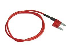 Mini-Fladsikring 10A med strømudtag