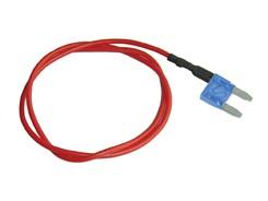 Mini-Fladsikring 15A med strømudtag