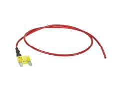 Mini-Fladsikring 20A med strømudtag