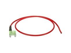 Mini-Fladsikring 30A med strømudtag
