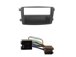 1DIN Radiokit MERCEDES med aflægningskasse + kabel