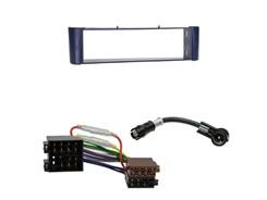 1DIN Radiokit SMART (W450), uden metalramme, blå