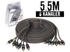 Stage1 Signalkabel 5.5 mtr, 6-kanals