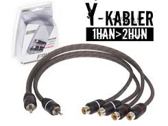 Stage1 Y-Kabel, 1Han>2Hun - 2 stk