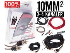 10mm² OFC kabelsæt m. 2 stk signalkabler