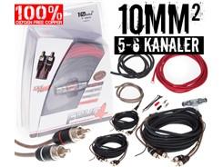 10mm² OFC kabelsæt m. 3 stk signalkabler