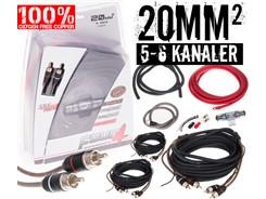20mm² OFC kabelsæt m. 3 stk signalkabler