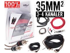 35mm² OFC kabelsæt m. 2 stk signalkabler