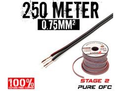 0,75mm² OFC Højttalerkabel, 250 mtr