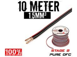 1,5mm² OFC Højttalerkabel, 10 mtr