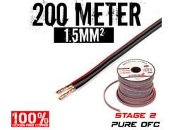 1,5mm² OFC Højttalerkabel, 200 mtr