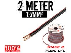 1,5mm² OFC Højttalerkabel, 2 mtr