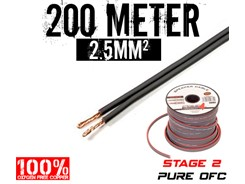 2,5mm² OFC Højttalerkabel, 200 mtr