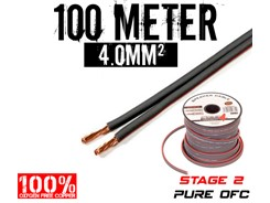 4mm² OFC Højttalerkabel, 100 mtr