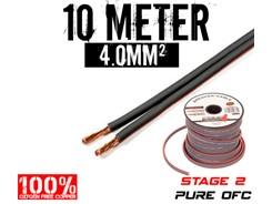 4mm² OFC Højttalerkabel, 10 mtr