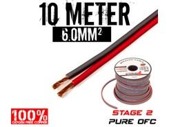 6mm² OFC Højttalerkabel, 10 mtr