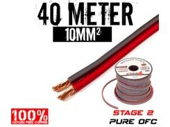 10mm² OFC Højttalerkabel, 40 mtr