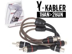 Stage2 Y-Kabel, 1Han>2Hun - 2 stk