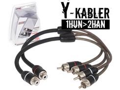 Stage2 Y-Kabel, 1Hun>2Han - 2 stk