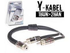 Stage3 Y-Kabel, 1Hun>2Han - 1 stk