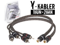 Stage1 Y-Kabel, 1Hun>2Han - 2 stk