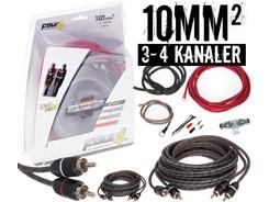 10mm² kabelsæt m. 2 stk signalkabler