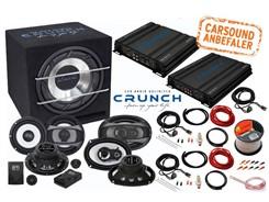 The Crunch GTi - Bilstereopakke u. autoradio