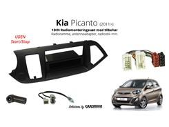 1DIN Radiomonteringssæt KIA Picanto (2011>)