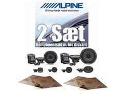 2 sæt Alpine højttalere - Komponentsæt