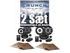 2 sæt Crunch højttalere - SlimFit Komponentsæt