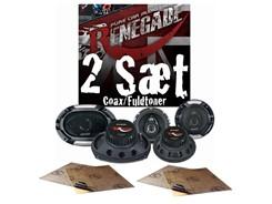 2 sæt Renegade højttalere - Coax/Fuldtoner